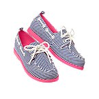 Stripe Boat Shoes