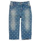 Dot Print Jeans