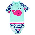 Whale Swim Rash Guard Set