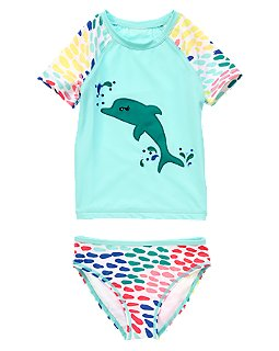 Dolphin Rash Guard Set