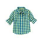 Roll Cuff Gingham Shirt
