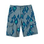 Batik Print Cargo Shorts