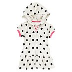 Hooded Polka Dot Terry Swim Cover-Up