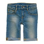 Cuffed Cut-off Denim Shorts