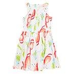 Parakeet Print Dress