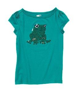 Sequin Frog Tee