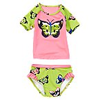 Butterfly Rash Guard Set