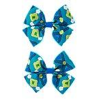 Batik Print Bow Barrettes 2-Pack