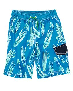 Surf Board Swim Trunks
