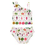 Ruffly Batik Two-Piece Swimsuit