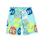 Skull Print Swim Trunks