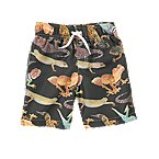 Lizard Print Swim Trunks
