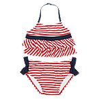 Ruffly Stripe 2-Piece Swimsuit