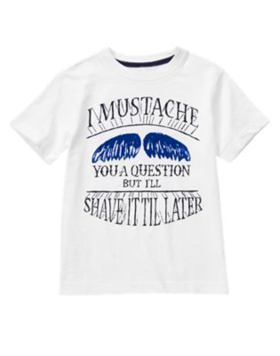 Mustache You A Question Tee