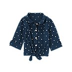 Dot Tie-Front Shirt