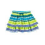 Stripe Ruffle Tiered Skort