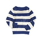 Open-Stitch Stripe Sweater