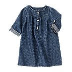 Dot Chambray Dress