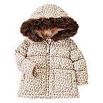 Animal Print Puffer Coat