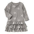 Ruffly Star Print Dress