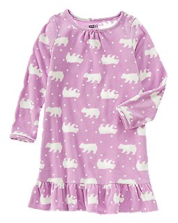 Fuzzy Polar Bear Pajama Gown