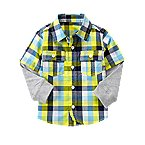 Check Double Sleeve Shirt