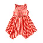 Handkerchief Hem Stripe Dress