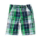 Plaid Canvas Shorts