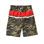 Stripe Camo Swim Trunks