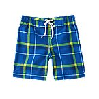 Plaid Swim Trunks