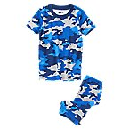 Camo Two-Piece Shortie Pajama Set