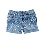 Bandana Print Jean Shorts