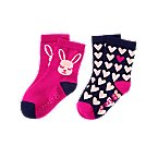 Bunny Heart Socks 2-Pack