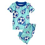 Soccer Ball Two-Piece Shortie Pajama Set