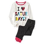 I Love Saturdays 2-Piece Pajama Set