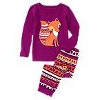 Geo Fox 2-Piece Pajama Set