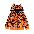Tiger Print Critter Hoodie