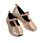 Metallic T-Strap Shoes