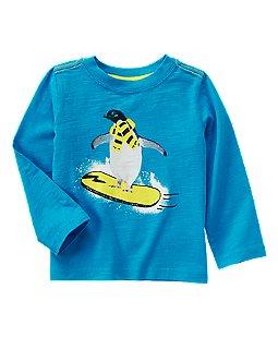 Snowboarding Penguin Tee