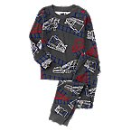 Train Print 2-Piece Pajama Set