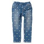 Heart Print Skinny Jeans
