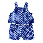 Geo Double Layer Romper