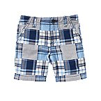 Patchwork Plaid Shorts