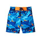 Shark Camo Swim Trunks