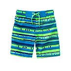 Geo Stripe Swim Trunks
