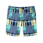 Plaid Patchwork Shorts