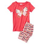 Butterfly 2-Piece Shortie Pajama Set