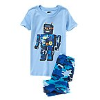 Robot Two-Piece Shortie Pajama Set