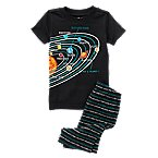 Solar System Two-Piece Shortie Pajama Set