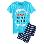 Beware Sleep Attack 2-Piece Shortie Pajama Set